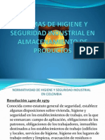 Normas de Higiene y Seguridad Industrial en Almacenamiento[1]