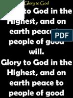 Glory to God -Light From Light