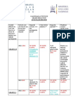 Calendar Activitati- Grade Didactice, 2013-2014