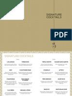 No3 Cocktail Menu Screen