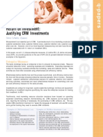 Justifying CRM Investments