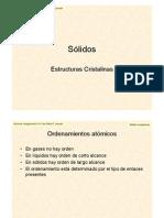 Clase Solidos-estructura Cristalina