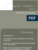 psych 20-chapters 1 and 2