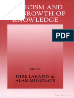 [Imre Lakatos, Alan Musgrave] Criticism and the Growth of Knowledge