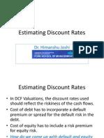 Estimating Discount Rates