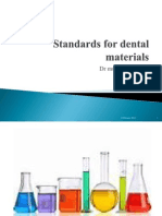 Standards for Dental Materials for First Year Bds