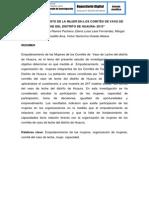 EMPODERAMIENTO DE LA MUJER EN LOS COMITÉS DE VASO DE LECHE DEL DISTRITO DE HUAURA- 2013