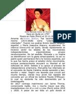 Doña Manuela Sáenz de Thorne