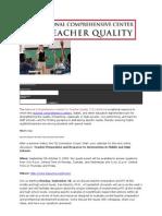 National Comprehensive Center for Teacher Quality