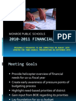 2010-2011 Financial Forecast Updated 9-09
