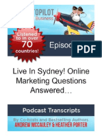 Live In Sydney! Online Marketing Questions Answered…