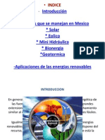 Energias Renovables en Mexico