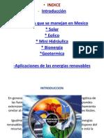 Energias Renovables en Mexico