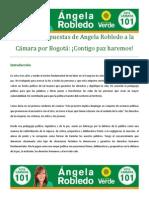 Logros y propuestas de Angela Robledo a la Cámara por Bogotá