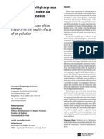 Questões metodológicas Investigação poluição atmosferica