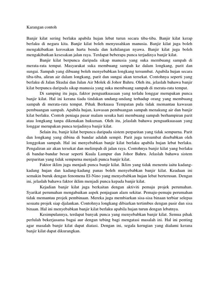 Contoh Karangan Banjir Kilat