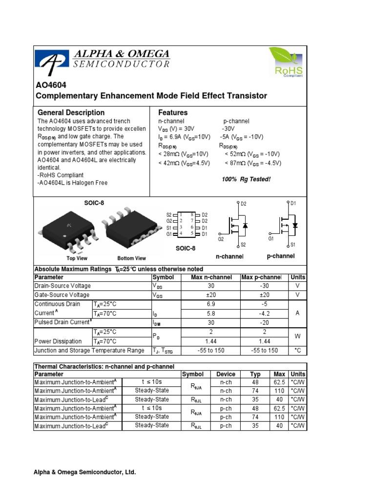 30 V 5 X MOSFET Transistor 120 A N Channel 6 mohm 1 V 10 V