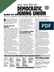 UCU Left General Election Leaflet 2014