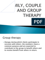 Family, Couple and Group Therapy