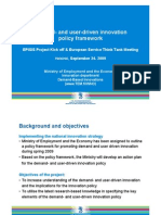 Demand and user-driven innovation policy framework