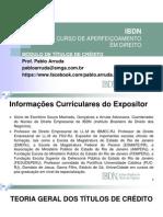 Modulo de Titulos de Credito 2013 Slides IBDN Pablo Arruda[1]