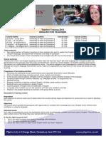 English for Teachers 2014