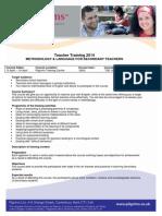 Methodology and Language for SecondaryTeachers