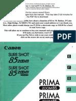 Canon Sureshot 85 Zoom