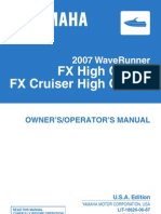 2007 Yamaha Wave Runner FX FX HO Service Manual