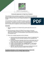 2014 FBFN ApplicationFormHS