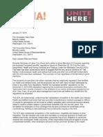 2014-2-4  Liuna Unite HERE Jan 2014 ACA Letter