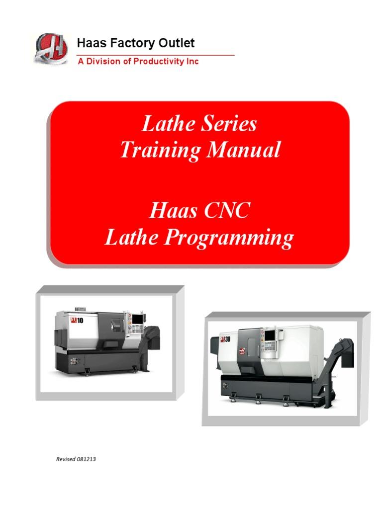 Haas Lathe Programming Manual   Numerical Control