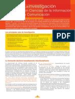 La Investigacion en Ciencias de La Informacion y Comunicacion