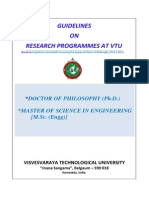 VTU PhD Guidelines 2013