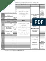 Programação Semana de Recepção do Calouro Design UFPR - 2009