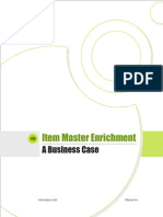 Business Case - Item Master Enrichment