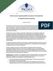 PACDAA Public Comment Regarding Healthy Pennsylvania 1115 Application