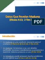 Datos Que Revelan Madurez
