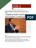 """04-02-2014 Milenio.com - """"Capital privado reactivará Chicontepec y Petroquímica"""""""