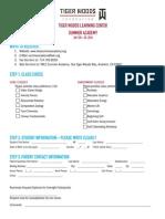 SummerAcademy Application 2014