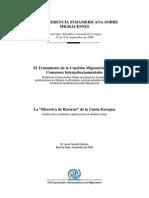 Informe Conferencia Sudamericana Migraciones