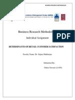 Determinants of Retail Customer Satisfaction