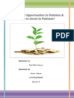 Investment Opportunities in Pakistan & Why to Invest in Pakistan