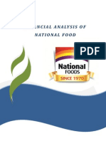 Financial Analysis of National Food