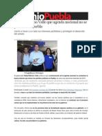02-02-2014 Sexenio Puebla - Confía Moreno Valle que agenda nacional no se polarice en Puebla