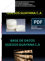 Diapositivas Base de Datos. Quesos Guayana