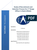 Study of Recruitment and Selection Process for 1st Level Officer in Bank Alfalah