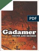 GADAMER - Tapa y Referencia