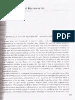 GADAMER - Hermenéutica - Primera parte