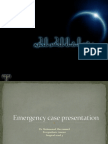emergency cases presentation